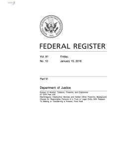 ATF Final Rule NFA Trusts